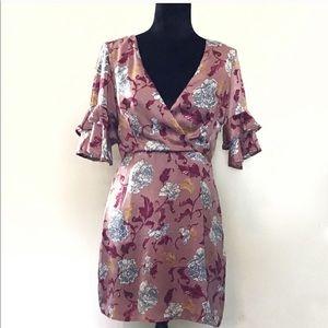 Honey Belle Size Medium V Neck Open Back Dress